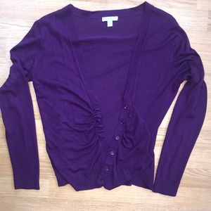New York & Company Purple Cardigan Sweater